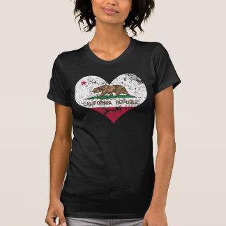 Heart California Republic Flag T-shirt