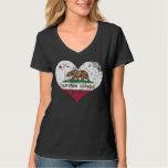 Heart California Republic Flag Tee Shirts