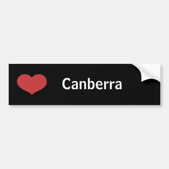 Heart Canberra Bumper Sticker