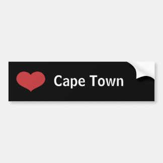 Heart Cape Town Bumper Sticker