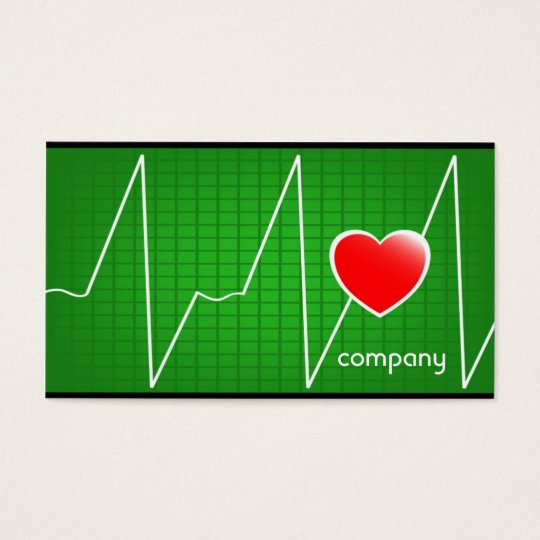 Heart Cardiogram Medical Services Business Card