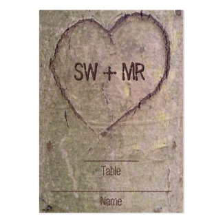 Heart Carved in Tree, Custom Romantic Nature Business Card