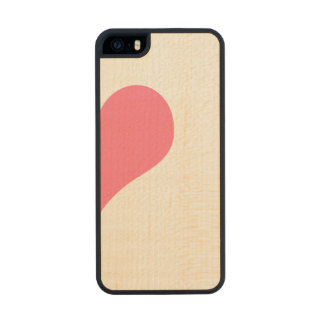 Heart Carved® Maple iPhone 5 Case