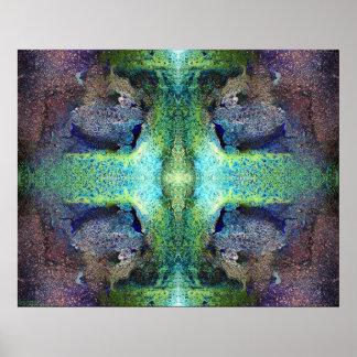 """Heart Chakra Altar"" Abstract Meditation Art Poster"