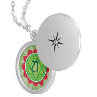 Heart Chakra AnahataSilver Plated Round Locket