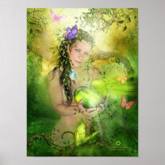 Heart Chakra Goddess Art Poster Print