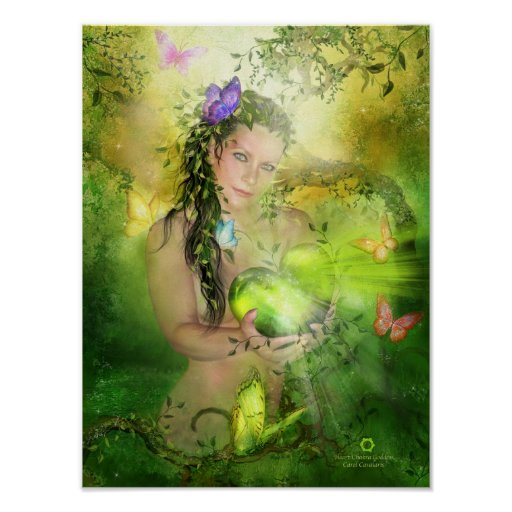 Heart Chakra Goddess Art Poster/Print Poster