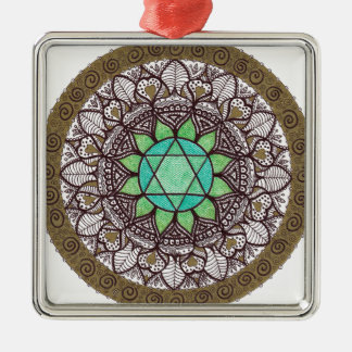 Heart Chakra Mandala Christmas Ornament