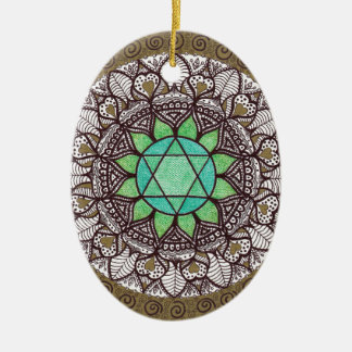 Heart Chakra Mandala Christmas Ornament