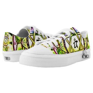Heart Chakra Mandala Custom Zipz Low Top Kickers Printed Shoes