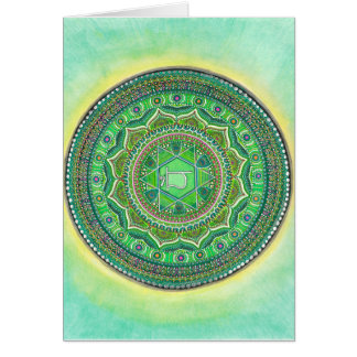 Heart Chakra Mandala Greeting Cards