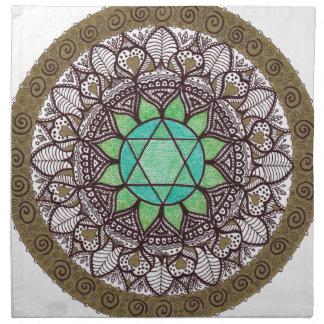 Heart Chakra Mandala Napkin