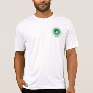 Heart Chakra Mens Performance Micro-Fiber T-Shirt