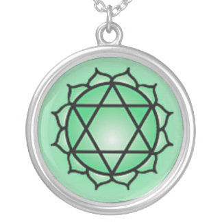 Heart Chakra Sterling Silver Plate Necklace