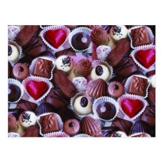 Heart choclates for mothersday postcard