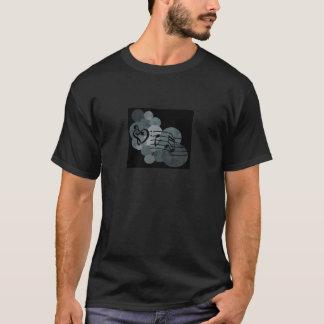 Heart clefs, music notes + silver grey polka dots T-Shirt