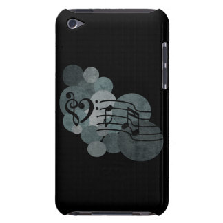 Heart clefs, music + silver grey polka dots ipod iPod touch cover