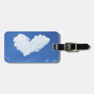 Heart cloud luggage tag