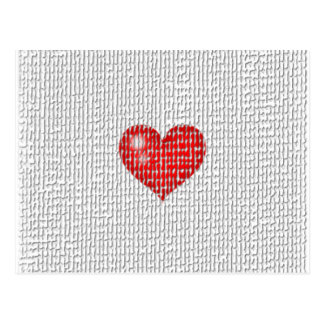 Heart Clouthes texture Postcards