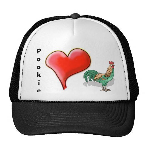 Heart, cock1, Pookie Mesh Hat