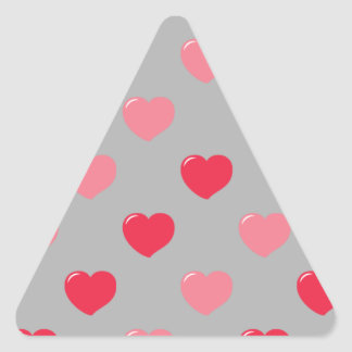 Heart collection triangle sticker