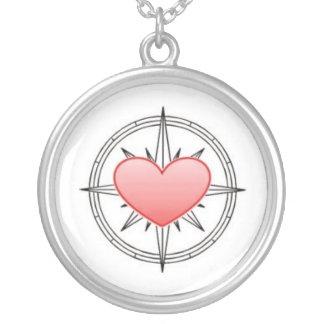Heart Compass Pendant