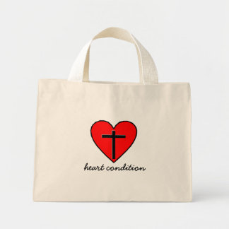 heart condition mini tote bag