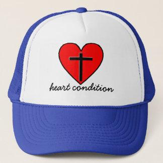 heart condition trucker hat