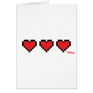 Heart Containers - Gamer geek video games Life Cards