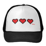 Heart Containers - Gamer, geek video games Life Mesh Hat
