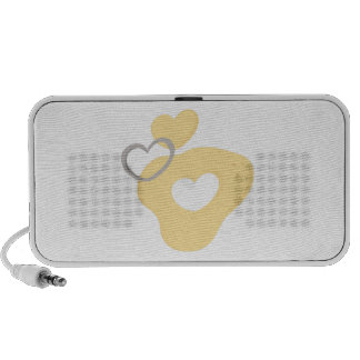 Heart Cookie Cutter PC Speakers