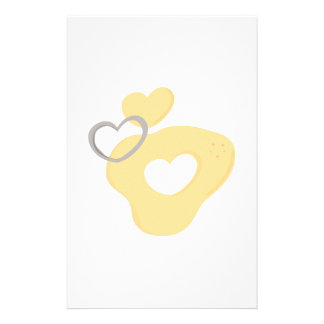 Heart Cookie Cutter Stationery Paper