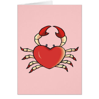 Heart Crab Card