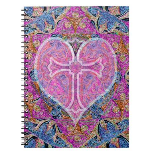 Heart, Cross, Pattern by Amelia Carrie Notebook