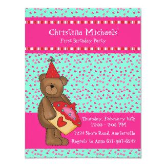 Heart Cupcake-Bear Classroom Card 11 Cm X 14 Cm Invitation Card