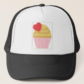 heart cupcake trucker hat