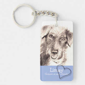 Heart Custom Pet Memorial Keychain with Poem 1