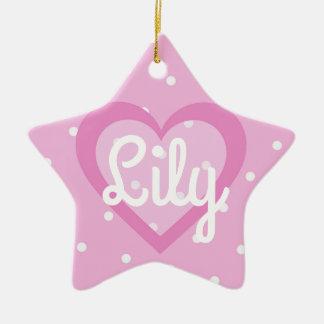 Heart Customisable/1st Christmas Star Ornament