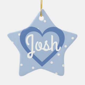 Heart Customisable/1st Christmas Star Ornament