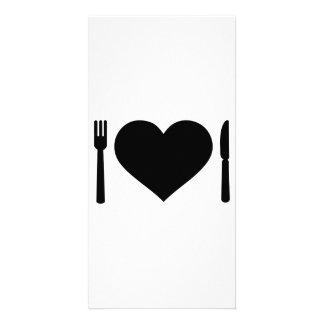 Heart cutlery photo cards