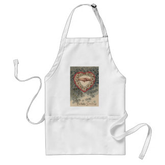 Heart Daisy Forget Me Not Holding Hands Floral Adult Apron