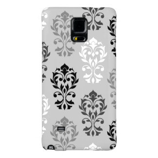 Heart Damask Art I Black Greys White Galaxy Note 4 Case