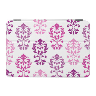 Heart Damask Art Ib Pinks Plums White iPad Mini Cover