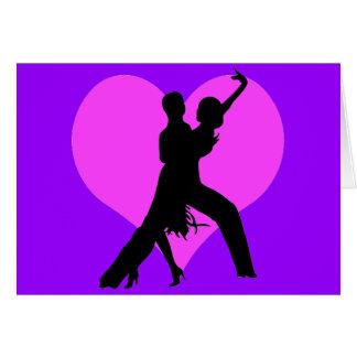 Heart dance greeting card