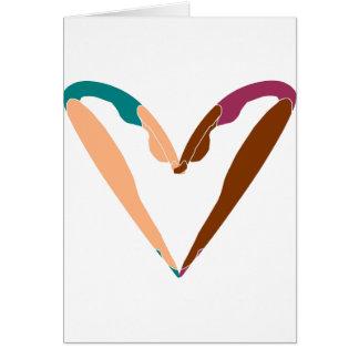 heart DANCE, LOVE dance. Greeting Card