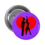 Heart dancers pinback buttons