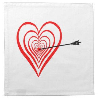 Heart Dartscheibe with arrow Napkin