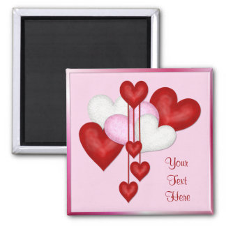 Heart Decor Square Magnet