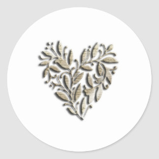 Heart design sticker