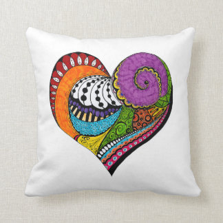 Heart design throw pillow throw cushion